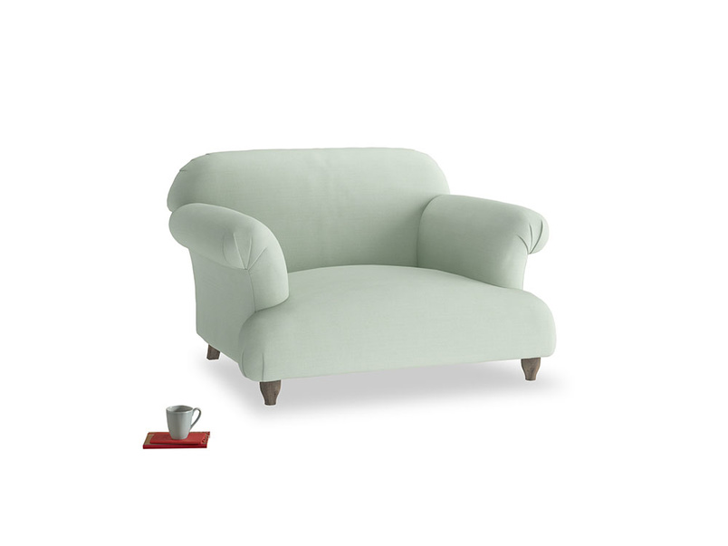 Soufflé Love seat in Soft Green Clever Softie
