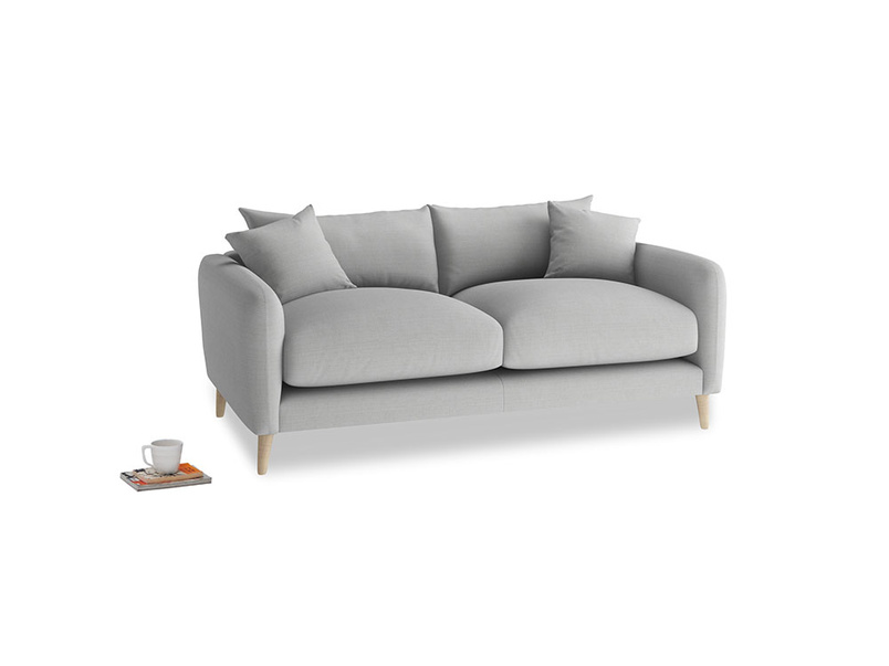 Small Squishmeister Sofa in Pewter Clever Softie