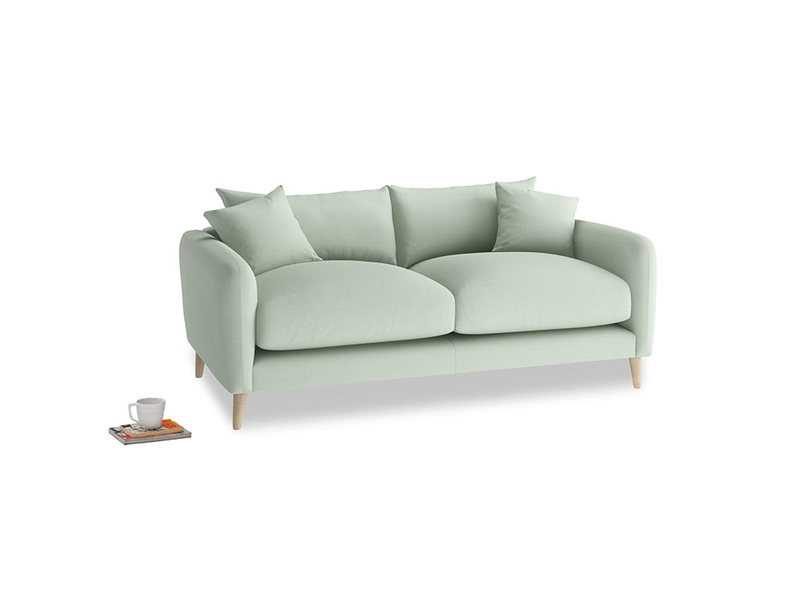 Small Squishmeister Sofa in Soft Green Clever Softie