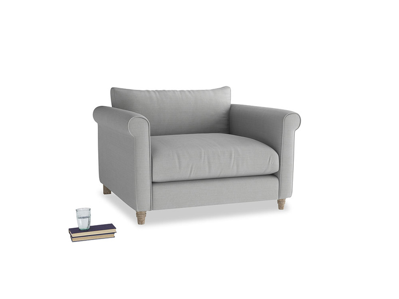Weekender Love seat in Pewter Clever Softie