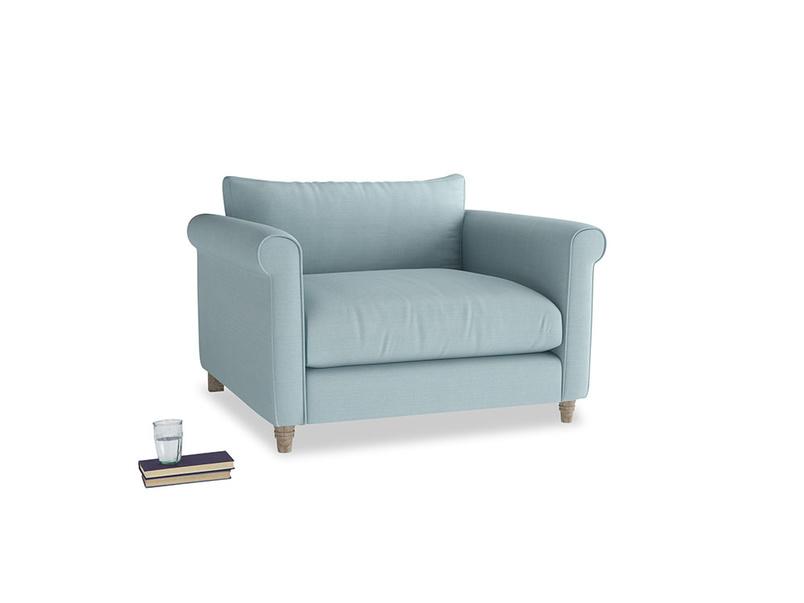 Weekender Love seat in Powder Blue Clever Softie