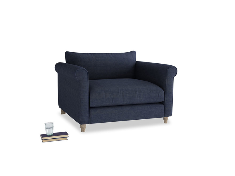 Weekender Love seat in Seriously Blue Clever Softie