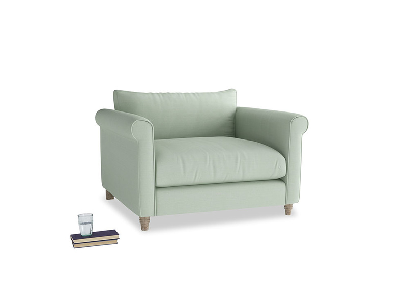 Weekender Love seat in Soft Green Clever Softie