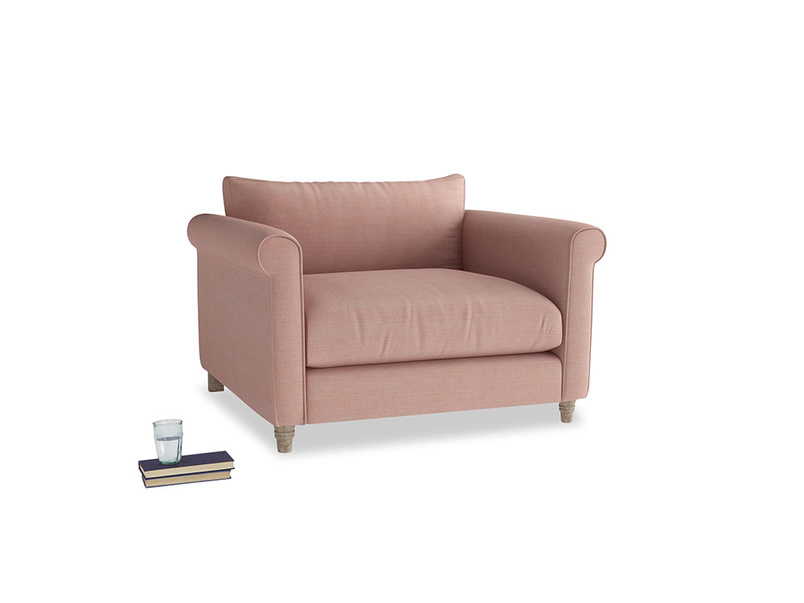 Weekender Love seat in Tuscan Pink Clever Softie