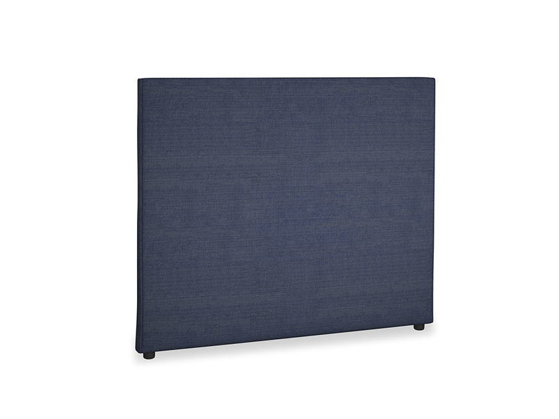 Double Piper Headboard in Seriously Blue Clever Softie