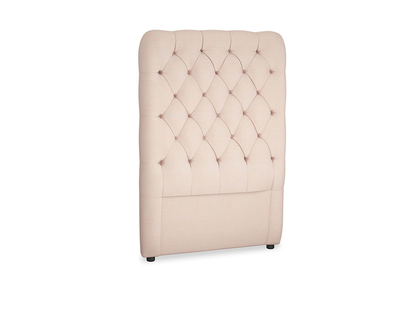 Single Tall Billow Headboard in Pink clay Clever Softie