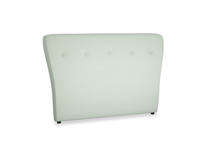 Double Smoke Headboard in Soft Green Clever Softie