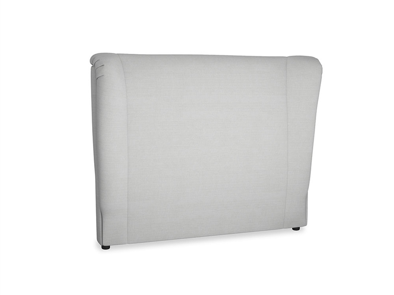 Double Hugger Headboard in Pewter Clever Softie
