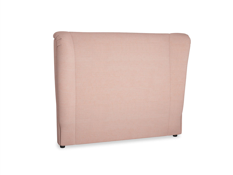 Double Hugger Headboard in Tuscan Pink Clever Softie