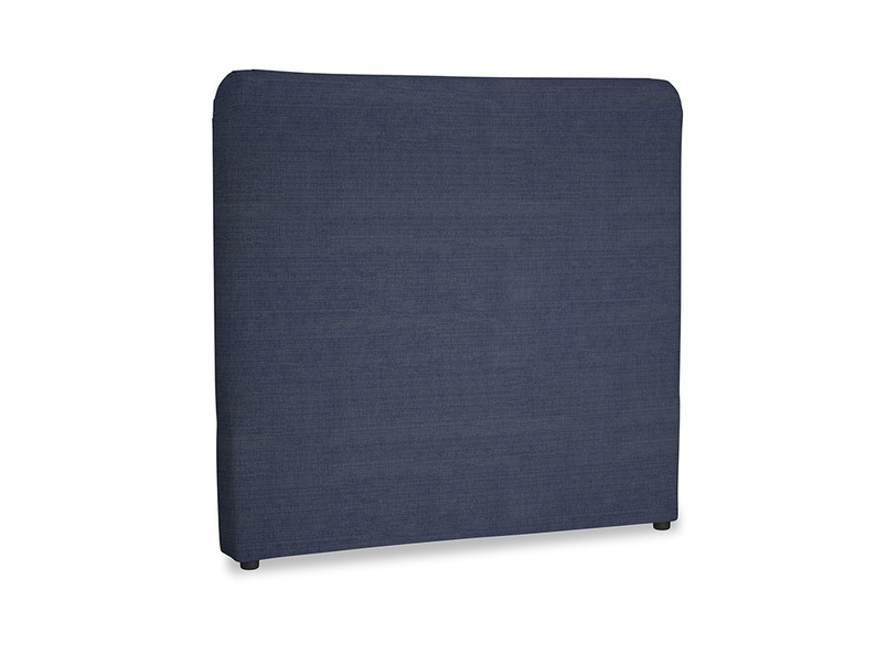 Double Ruffle Headboard in Seriously Blue Clever Softie