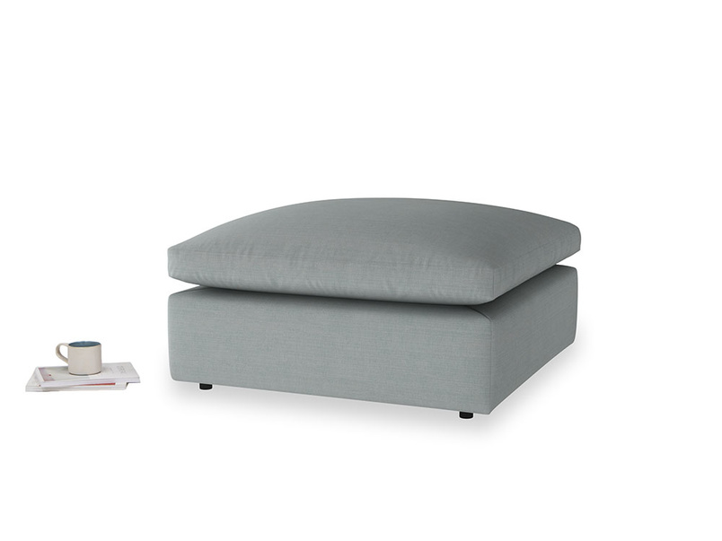 Cuddlemuffin Footstool in Armadillo Clever Softie