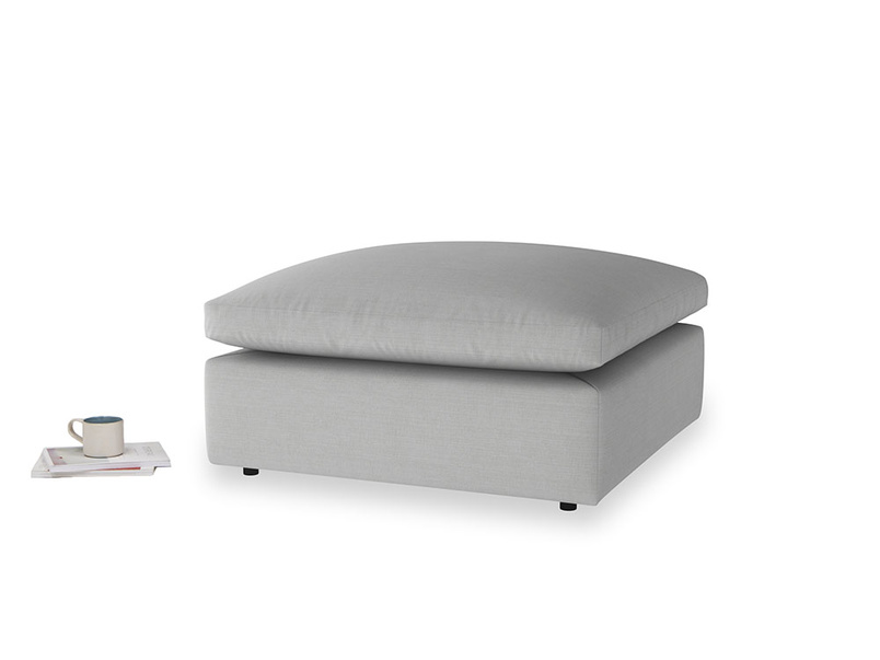 Cuddlemuffin Footstool in Pewter Clever Softie