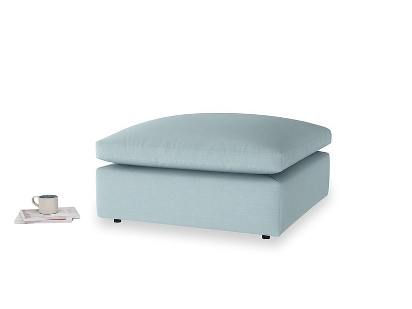 Cuddlemuffin Footstool in Powder Blue Clever Softie