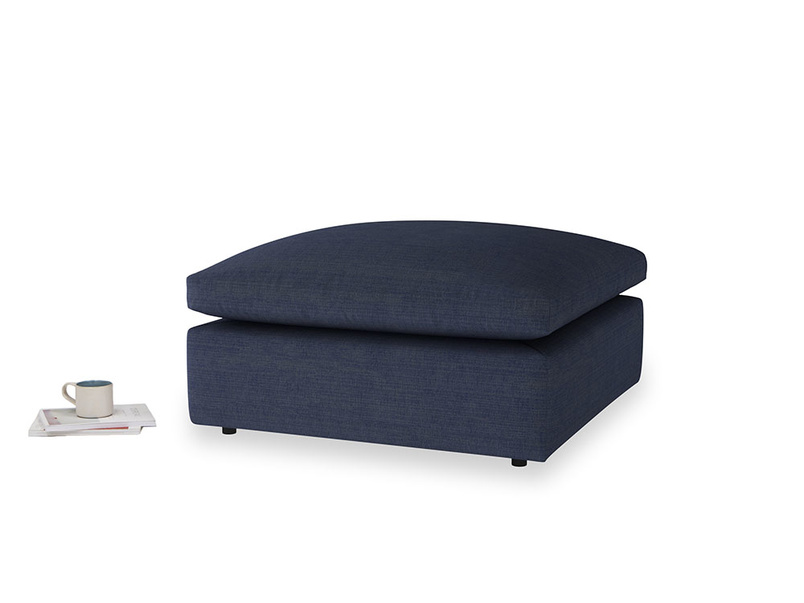 Cuddlemuffin Footstool in Seriously Blue Clever Softie