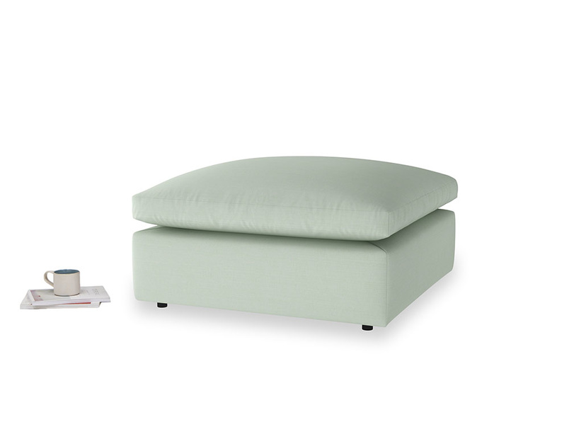 Cuddlemuffin Footstool in Soft Green Clever Softie