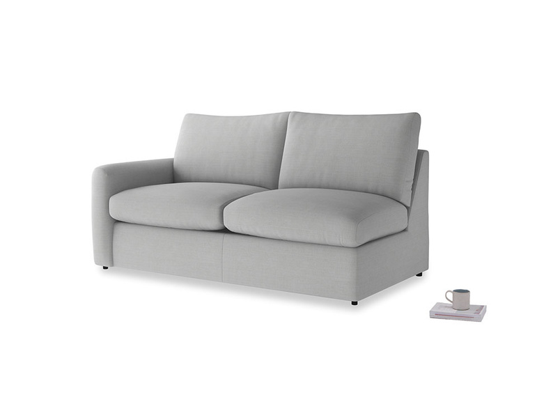 Chatnap Sofa Bed in Pewter Clever Softie with a left arm