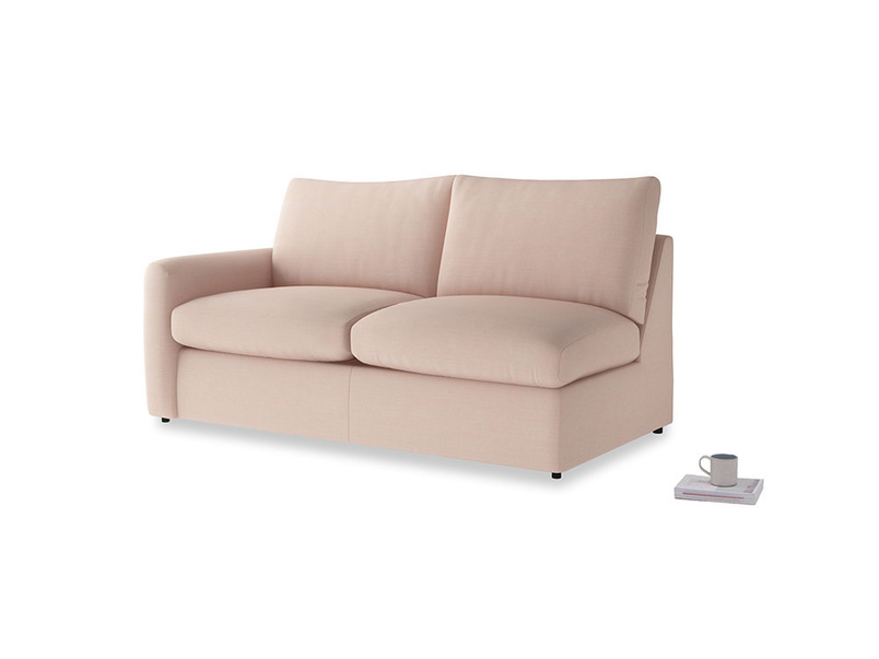 Chatnap Sofa Bed in Pink clay Clever Softie with a left arm