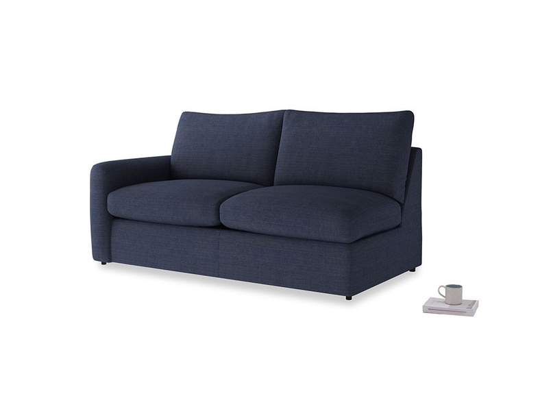 Chatnap Sofa Bed in Seriously Blue Clever Softie with a left arm