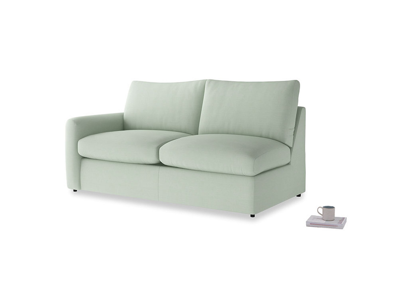 Chatnap Sofa Bed in Soft Green Clever Softie with a left arm