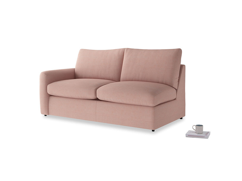 Chatnap Sofa Bed in Tuscan Pink Clever Softie with a left arm