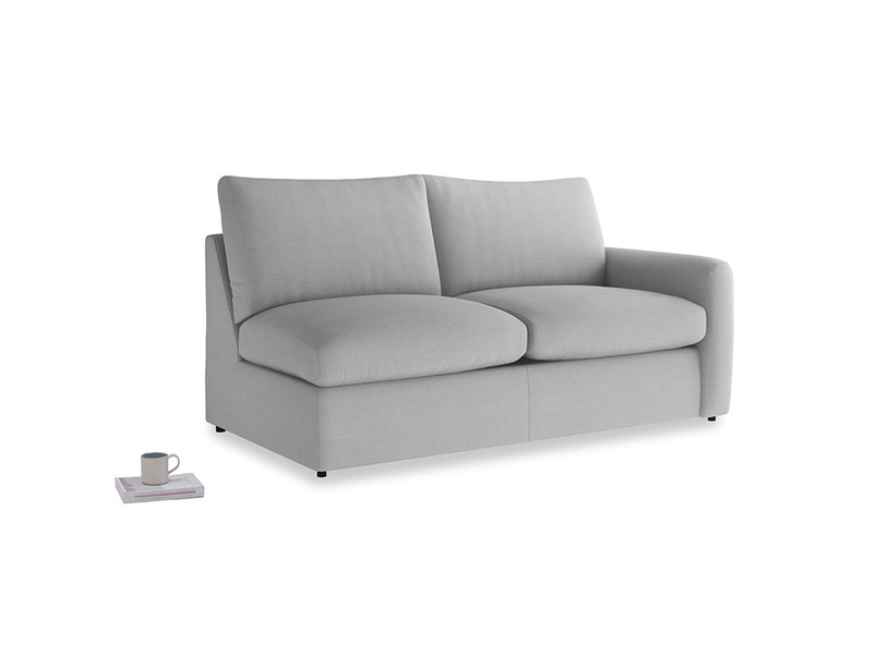 Chatnap Sofa Bed in Pewter Clever Softie with a right arm