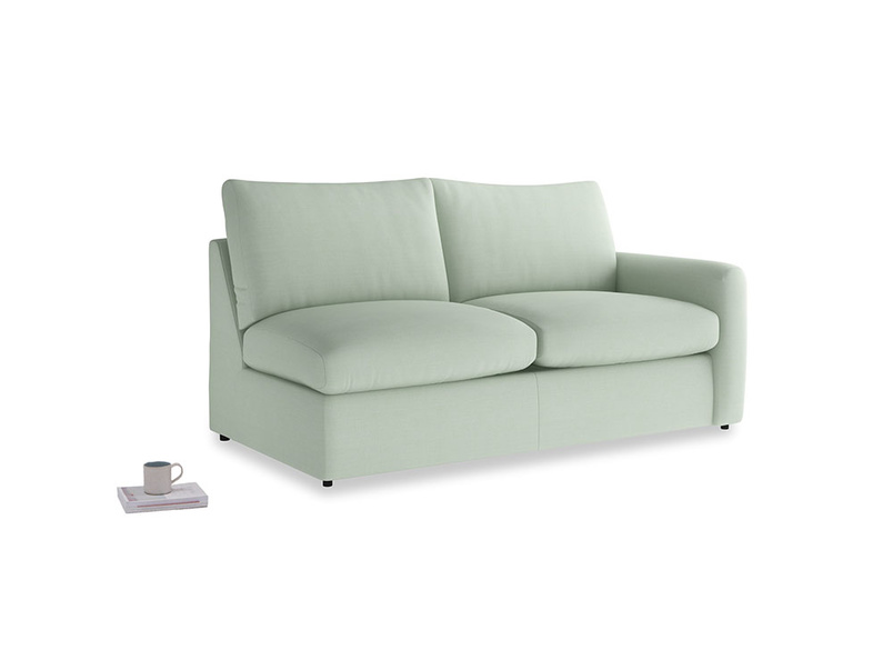 Chatnap Sofa Bed in Soft Green Clever Softie with a right arm