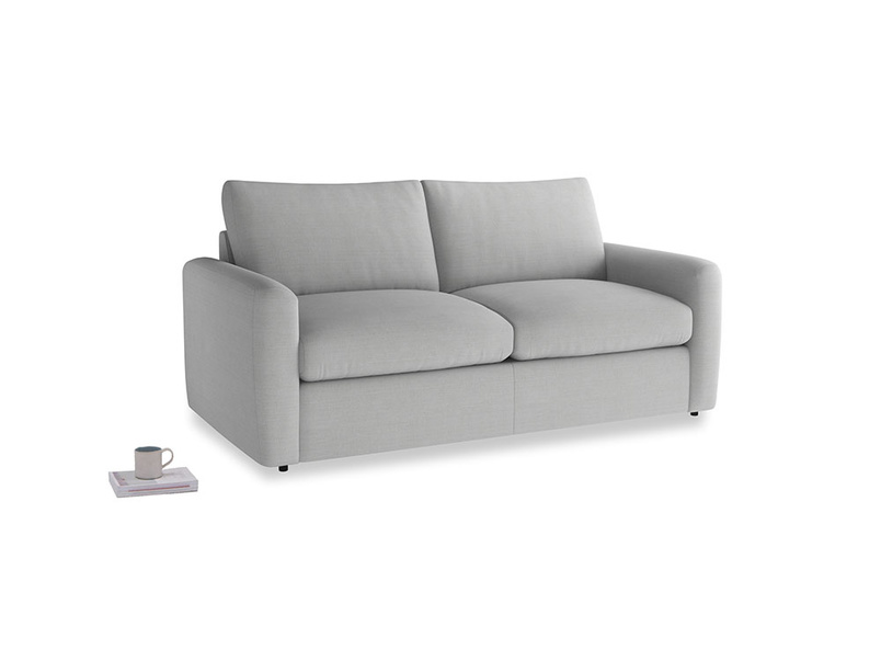 Chatnap Sofa Bed in Pewter Clever Softie with both arms