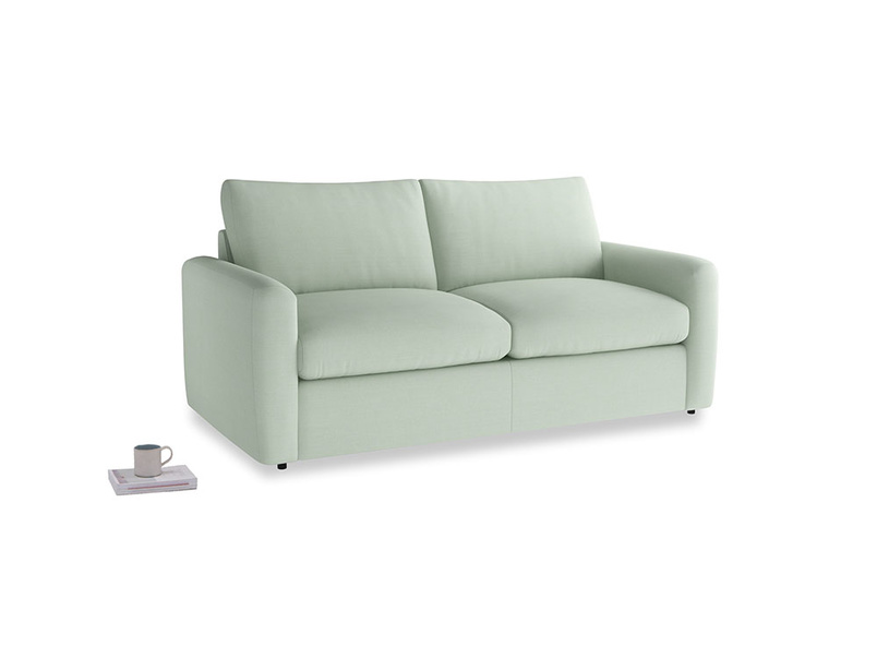 Chatnap Sofa Bed in Soft Green Clever Softie with both arms