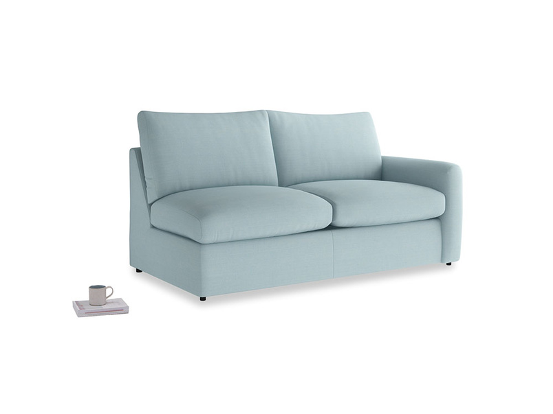 Chatnap Storage Sofa in Powder Blue Clever Softie with a right arm