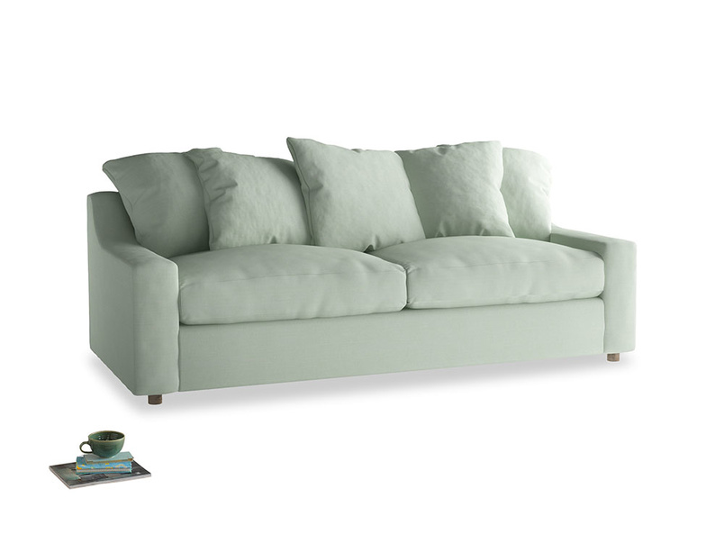 Large Cloud Sofa in Soft Green Clever Softie