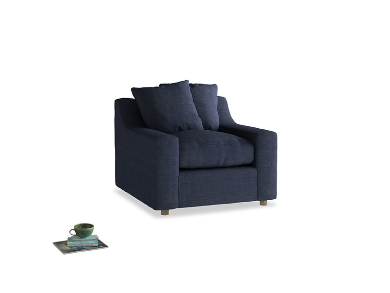 Cloud Armchair in Seriously Blue Clever Softie