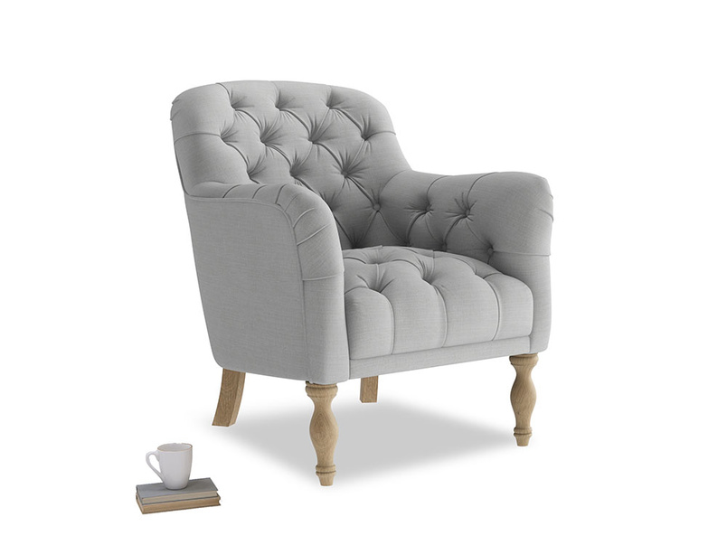 Reader Armchair in Pewter Clever Softie