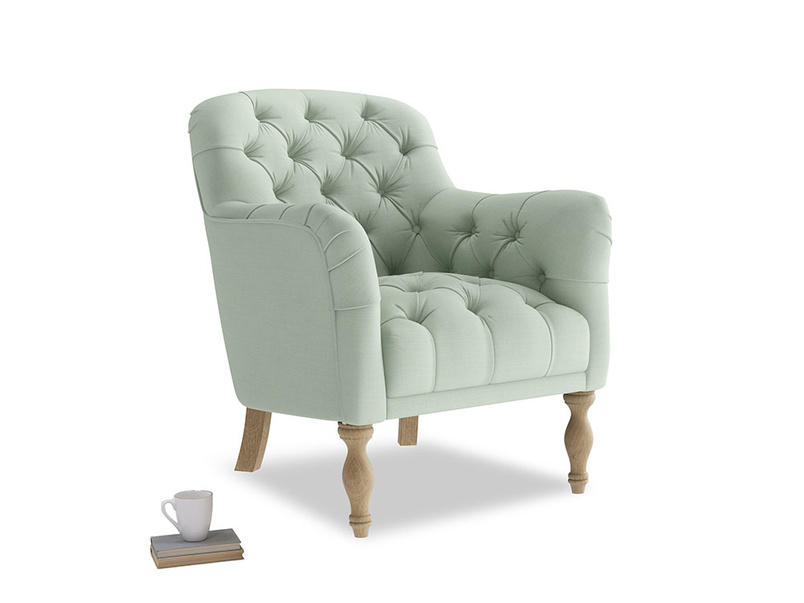 Reader Armchair in Soft Green Clever Softie