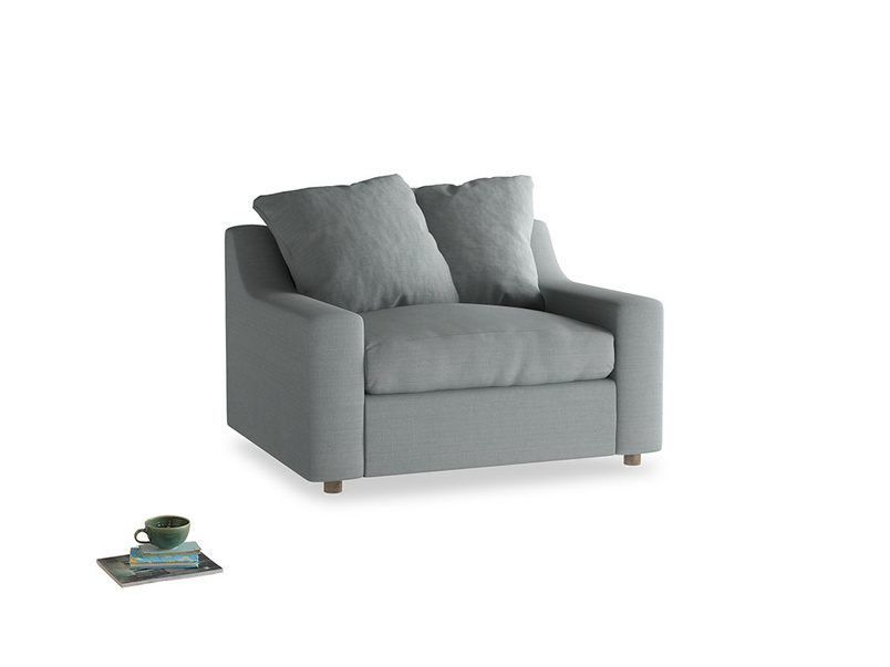 Cloud love seat sofa bed in Armadillo Clever Softie