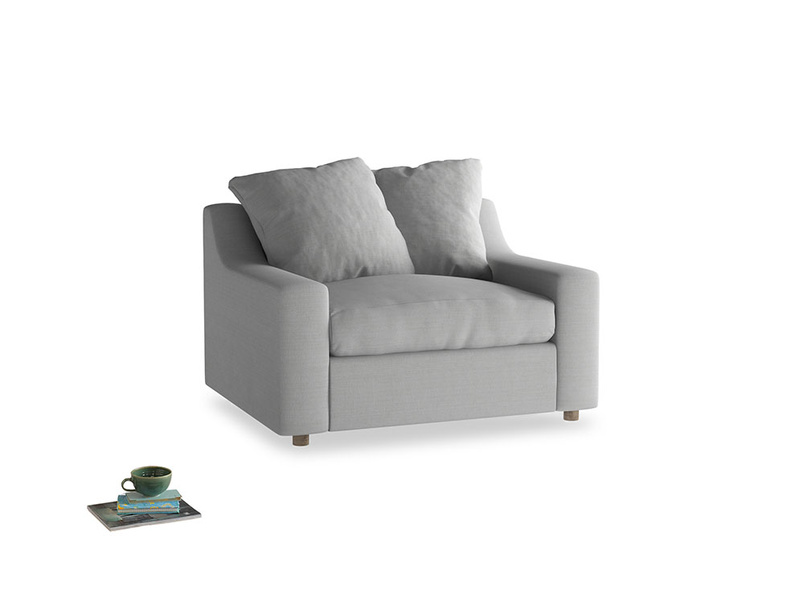 Cloud love seat sofa bed in Pewter Clever Softie