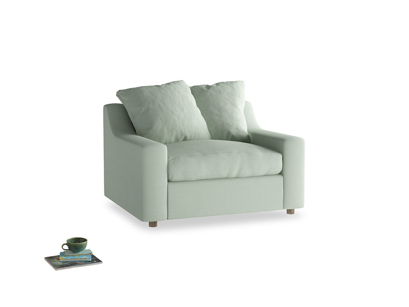 Cloud love seat sofa bed in Soft Green Clever Softie
