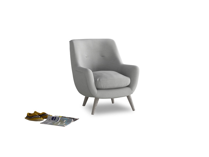 Berlin Armchair in Pewter Clever Softie
