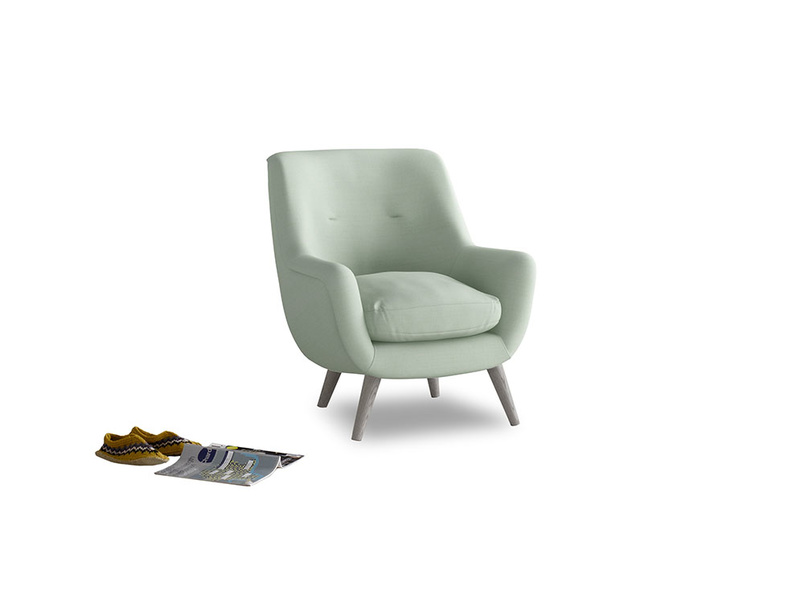 Berlin Armchair in Soft Green Clever Softie