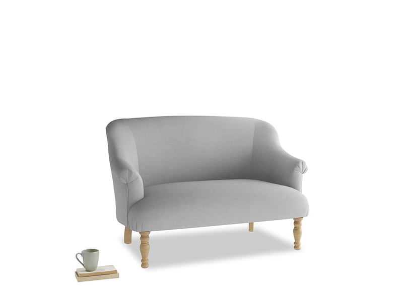 Small Sweetie Sofa in Pewter Clever Softie