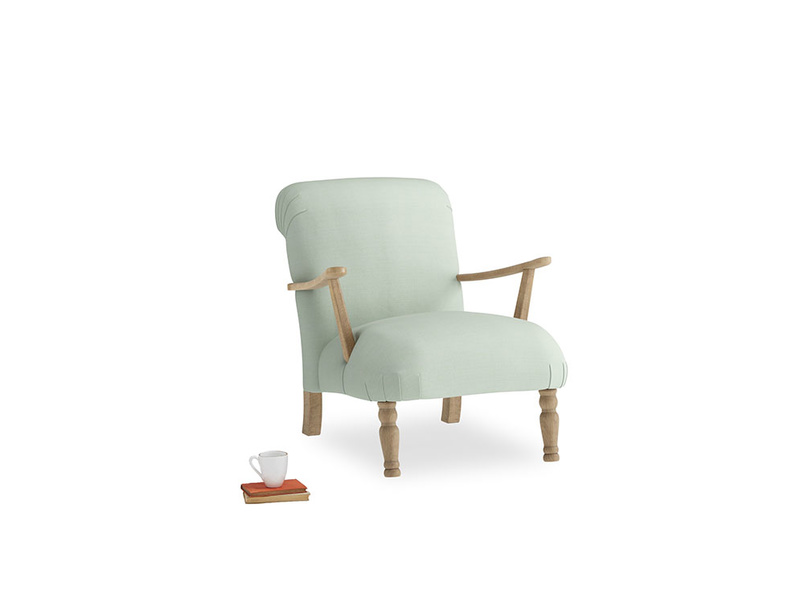 Brew Armchair in Soft Green Clever Softie