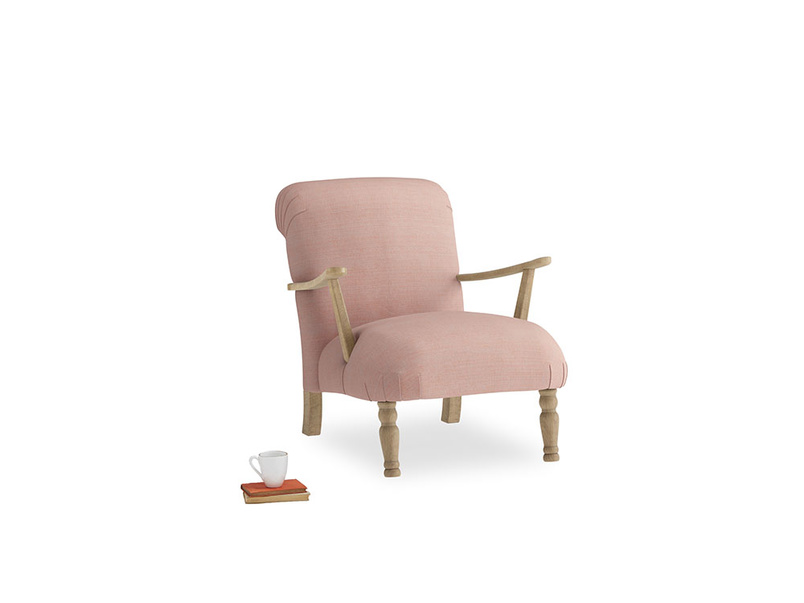 Brew Armchair in Tuscan Pink Clever Softie
