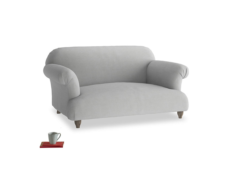Small Soufflé Sofa in Pewter Clever Softie