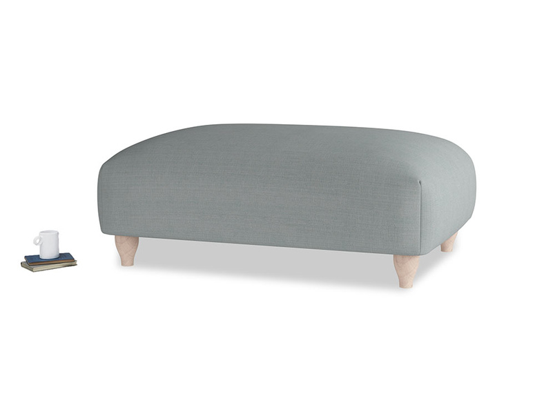 Soufflé Footstool in Armadillo Clever Softie