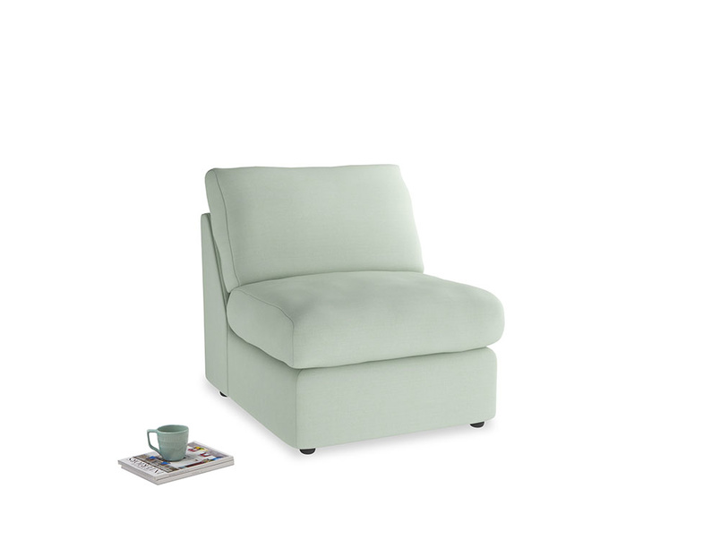 Chatnap Storage Single Seat in Soft Green Clever Softie