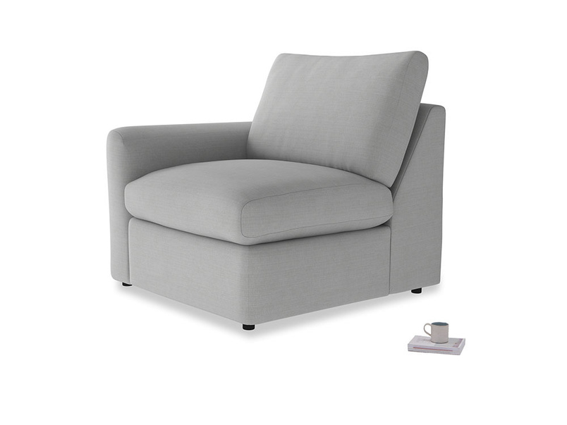 Chatnap Storage Single Seat in Pewter Clever Softie with a left arm