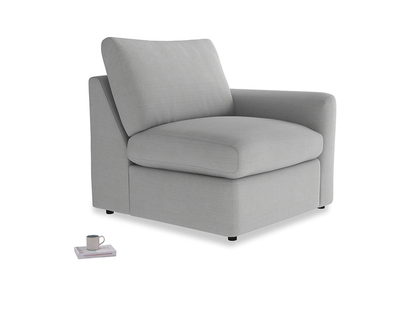 Chatnap Storage Single Seat in Pewter Clever Softie with a right arm