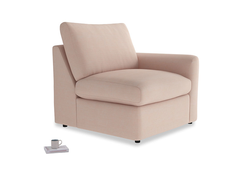Chatnap Storage Single Seat in Pink clay Clever Softie with a right arm