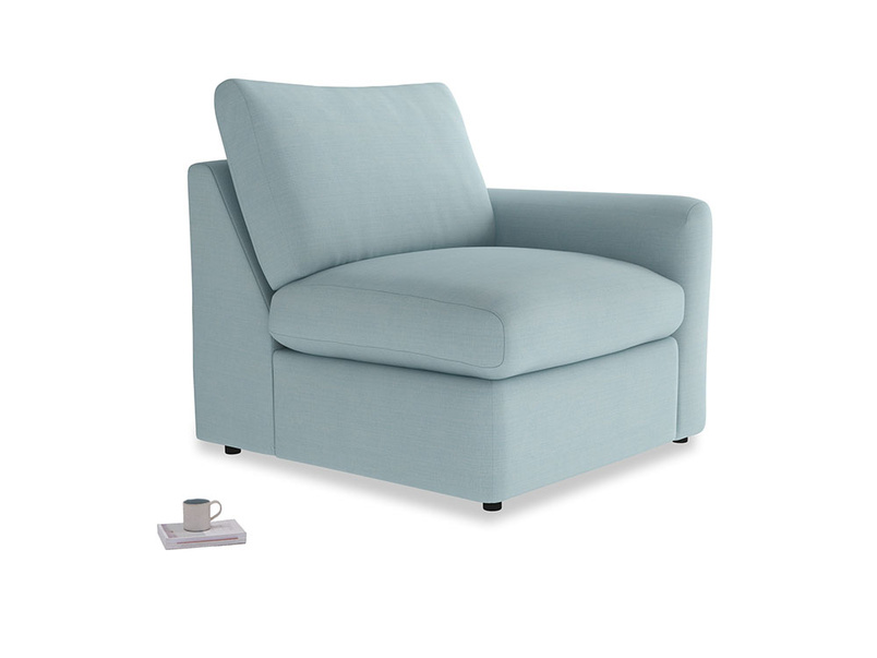 Chatnap Storage Single Seat in Powder Blue Clever Softie with a right arm
