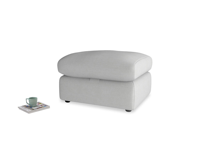 Chatnap Storage Footstool in Pewter Clever Softie