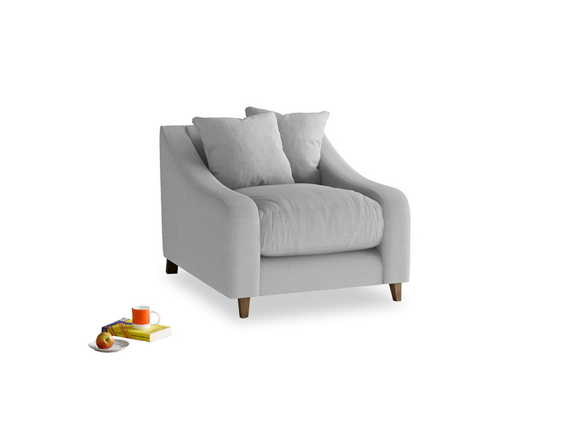 Oscar Armchair in Pewter Clever Softie